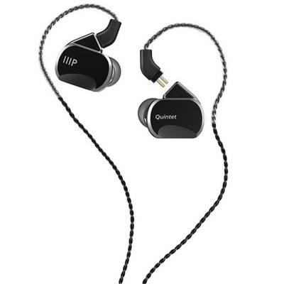 Monoprice Quintet Wired In Ear Monitor (3 Balanced Armatures + 2 Dynamic Drivers) Aluminum Housing, Detachable Cable