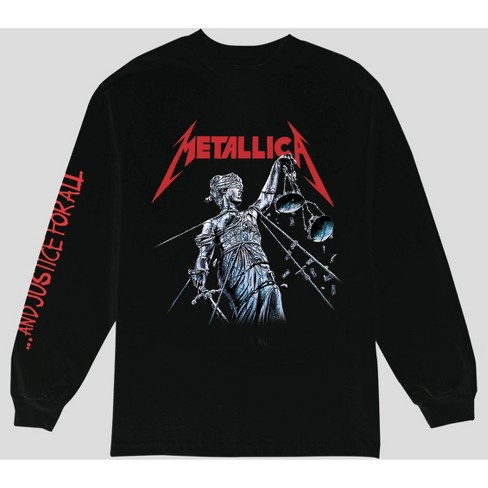 Men's Metallica Justice for All Long Sleeve T-Shirt - Black - image 1 of 1