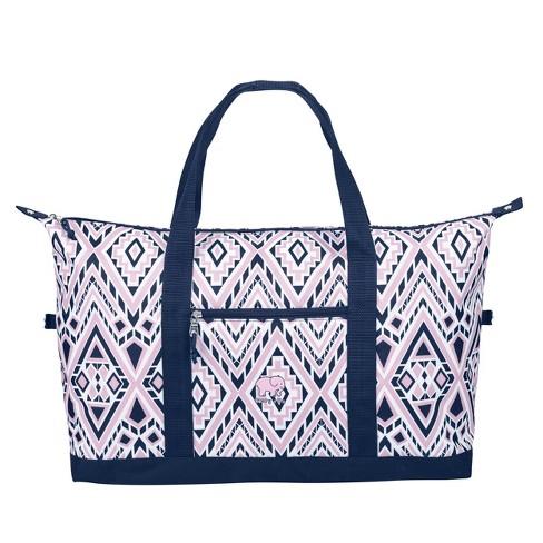 Ivory Ella Weekender Bag - Pink/Blue Diamond Mosaic - image 1 of 4