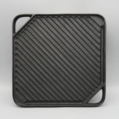Reversible Cast Iron Griddle Black - Mr. Bar-B-Q
