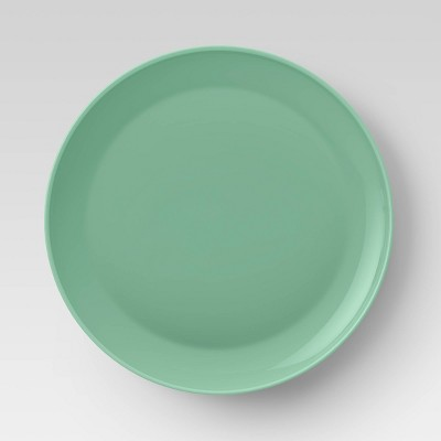 "10.5"" Plastic Dinner Plate Green - Room Essentials™"