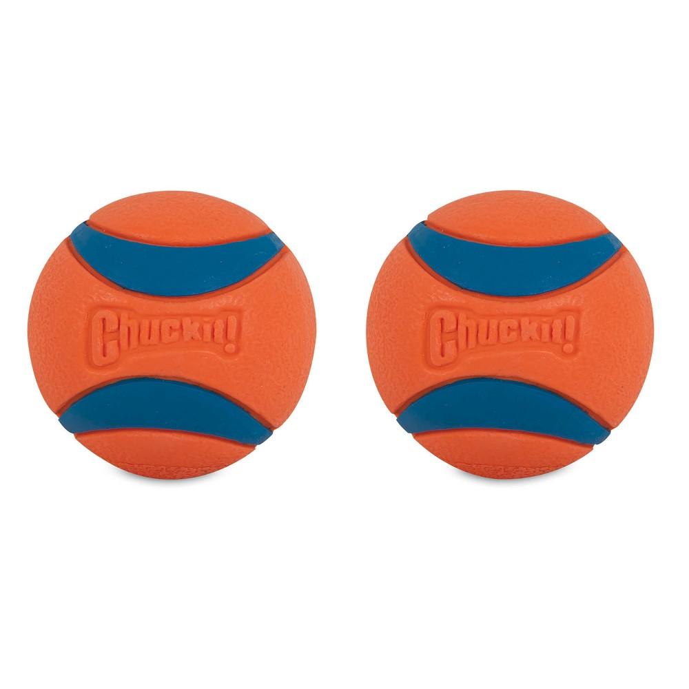 Chuckit Ultra Ball 2pk - Orange/Blue - Medium, Multi-Colored