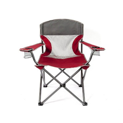Mac Sports Heavy Duty Big Comfort Quad XL Folding Outdoor Camping Chair, Red
