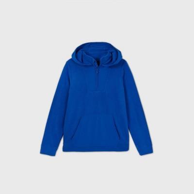 Boys' Fleece 1/4 Zip Pullover Hoodie Sweatshirt - All in Motion™