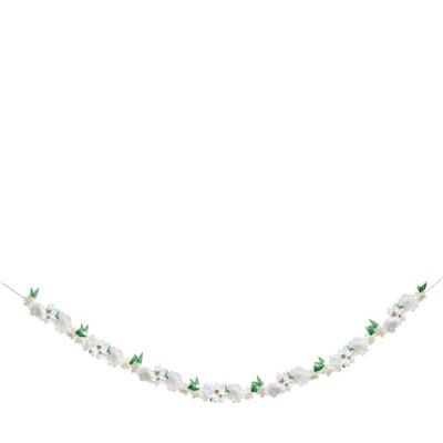 Meri Meri White Blossom Garland – Party Decorations and Accessories - 11.5'