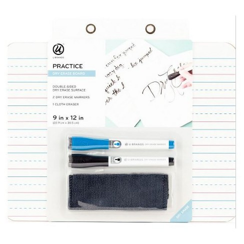 "Ubrands Dry Erase Lap Board with Shag Eraser and 3 Dry Erase Markers, 9"" x 12"" - image 1 of 1"