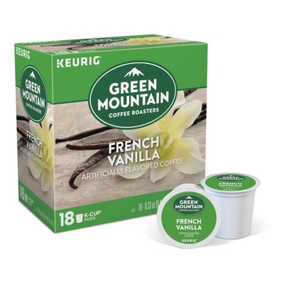 Green Mountain Coffee French Vanilla Flavored Coffee Medium Roast - Keurig K-Cup Pods - 18ct
