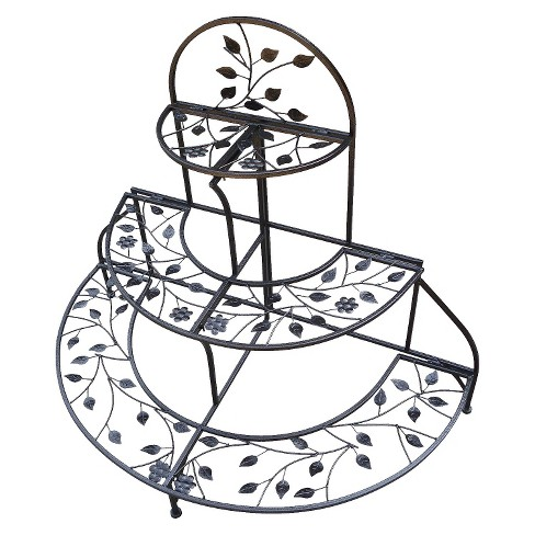 3 Tiered Foldable Plant Stand - Hammertone Bronze - image 1 of 1