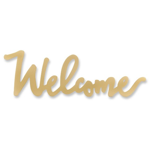 Kate Aspen Gold Welcome Table Sign - image 1 of 1