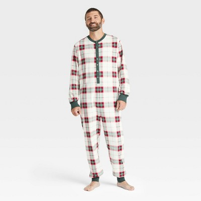 Men's Holiday Plaid Union Suit Red/Green - Hearth & Hand™ with Magnolia