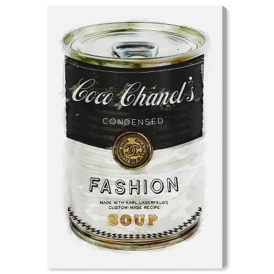 """15"""" x 10"""" Fashion Soup Fashion and Glam Unframed Canvas Wall Art in Black - Oliver Gal"""