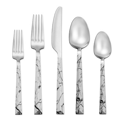 Tomodachi 20pc Stainless Steel Dali Silverware Set Marble