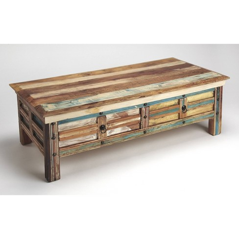 Reverb Painted Rustic Coffee Table Butler Specialty Target