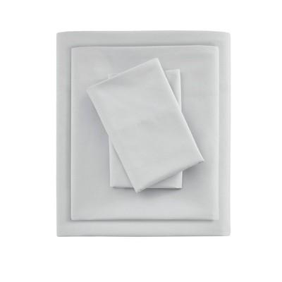Queen Smart Cool Microfiber Sheet Set Light Gray