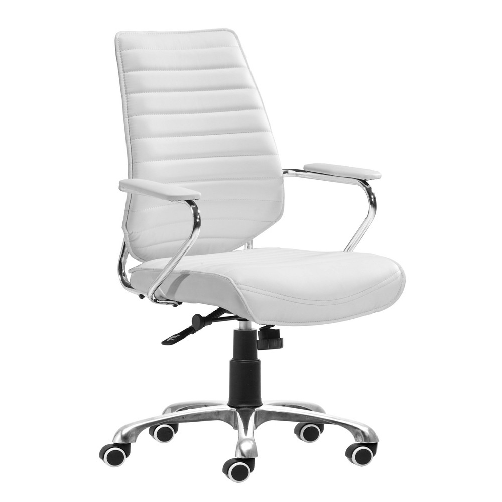 Modern Low Back Adjustable Office Chair White Zm Home