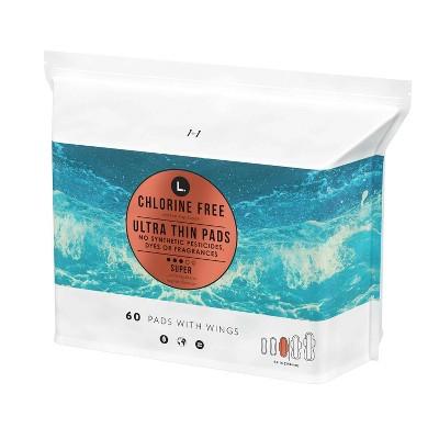 L . Organic Cotton Topsheet Ultra Thin Super Absorbency Pads