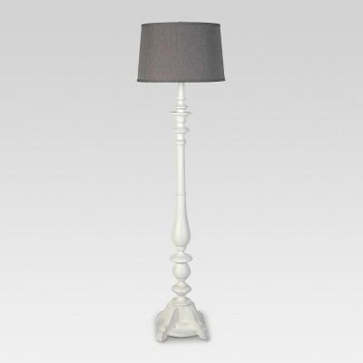 Turned Polyresin Double Socket Floor Lamp - Threshold™
