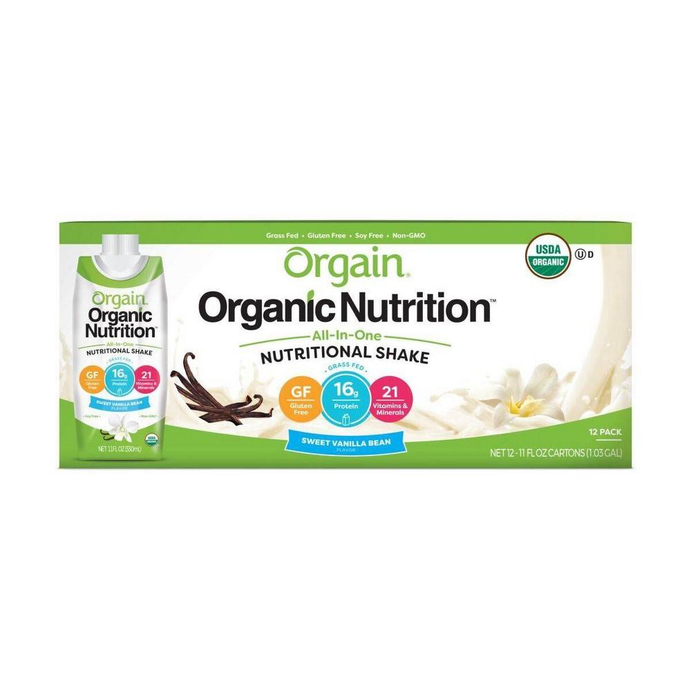 Orgain Organic Nutritional Shake Sweet Vanilla Bean 12ct