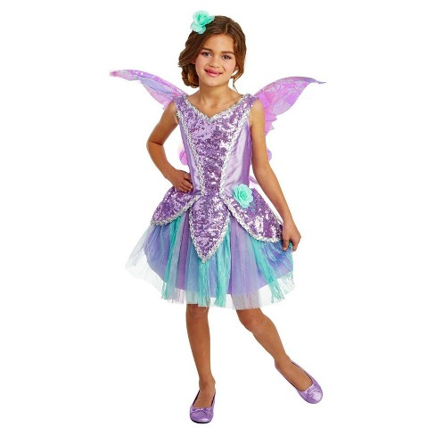 Girls Lavender Fairy Costume - image 1 of 1