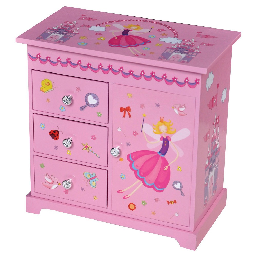 Mele & Co. Krista Girls' Musical Ballerina Jewelry Box-Pink, Pink Perfect for your little lady, this Mele and Co. Krista Girls' Musical Ballerina Jewelry Box in Pink is sure to please. Featuring whimsical prints, a musical ballerina, and enough space for her trinkets, she'll swoon over this jewelry box. Gender: Female.