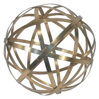 12  Metal Garden Orb - Bright Gold - Threshold™