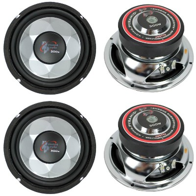 """PYRAMID PW677X 1200W 6"""" Car Audio Subs/Subwoofers Power Woofers Stereo"""