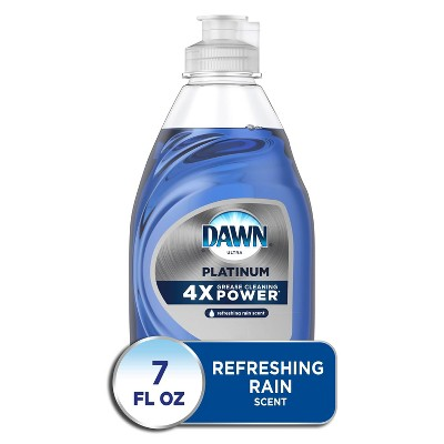 Dawn Platinum Dishwashing Liquid Dish Soap, Refreshing Rain Scent - 7 fl oz