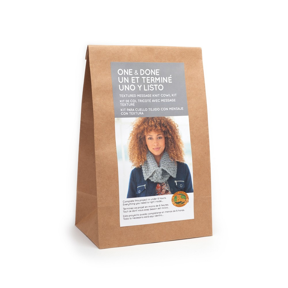 Image of Lion Brand Yarn Kit Split Cowl - Gray
