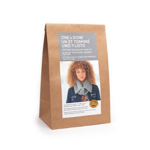 Lion Brand Yarn Kit Split Cowl - Gray - image 1 of 4