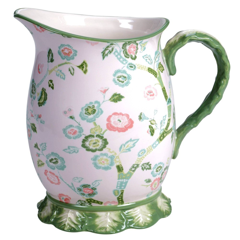 Image of 96oz Earthenware English Garden Beverage Pitcher - Certified International