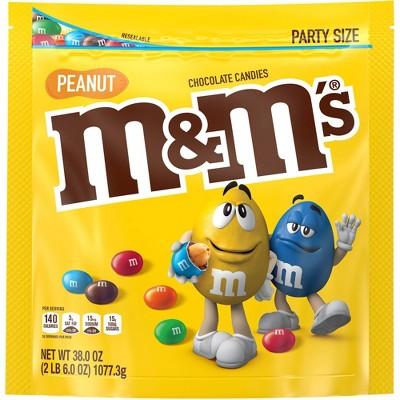 M&M's Party Size Peanut Chocolate Candies - 38oz
