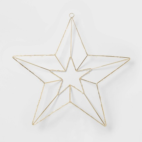 Dew Drop Hanging Star Decorative Figurine Gold - Wondershop™ - image 1 of 3