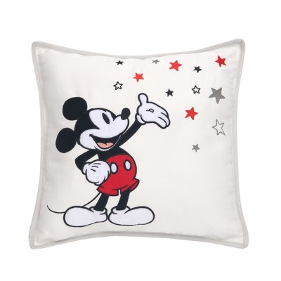 Lambs & Ivy Disney Baby Magical Mickey Mouse Decorative Throw Pillow - White