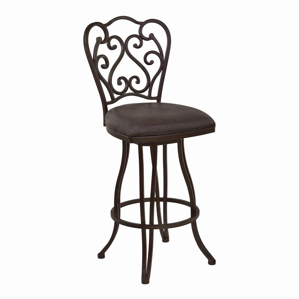 Stupendous 26 Armen Living Celeste Counter Height Metal Swivel Barstool Squirreltailoven Fun Painted Chair Ideas Images Squirreltailovenorg