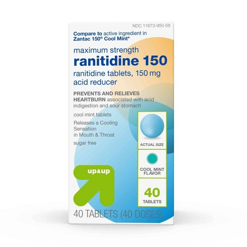 Maximum Strength Cool Mint Ranitidine 150mg Acid Reducer 40ct - Up&Up™