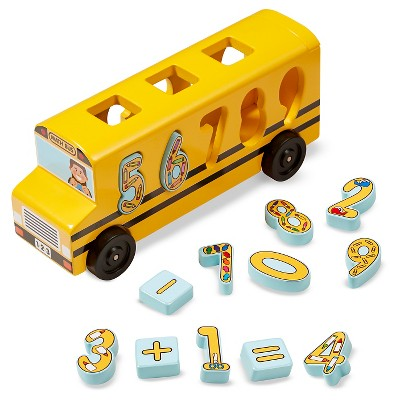 Melissa & Doug® Number Matching Math Bus - Educational Toy With 10 Numbers, 3 Math Symbols, and 5 Double-Sided Cards