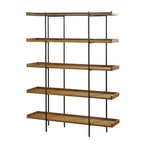 Bryan Keith Five Shelf Bookcase Natural/Black - Stylecraft - image 1 of 1