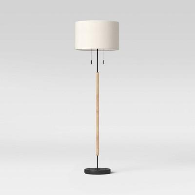 Cut off Base Floor Lamp Natural (Includes LED Light Bulb) - Threshold™