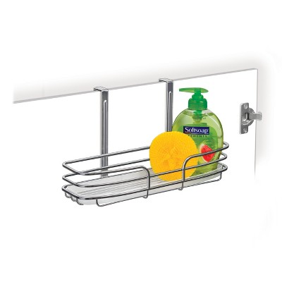 Lynk Over Cabinet Door Organizer - Single Shelf - with Molded Tray - Chrome