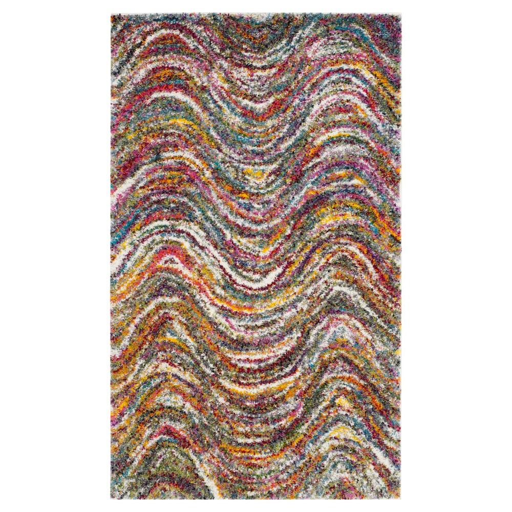 Multi-Colored Abstract Loomed Accent Rug - (3'X5') - Safavieh, Multicolored