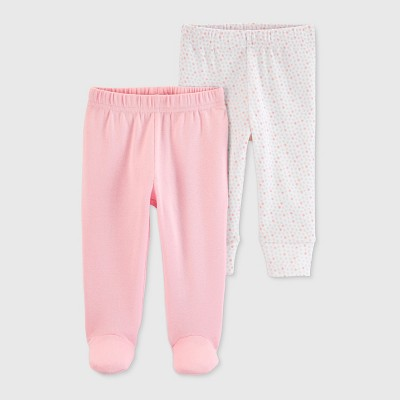 Baby Girls' 2pk Leggings - Just One You® made by carter's Pink/White 6M