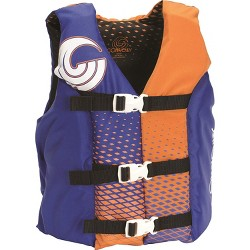 CWB Connelly Coast Guard Approved Nylon Youth Life Jacket PFD Vest, Navy/Orange