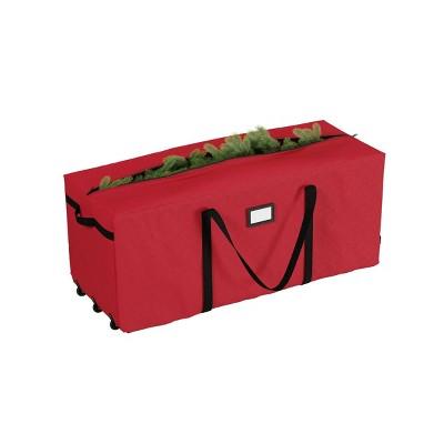Elf Stor Elf Stor Premium Red Rolling Christmas Tree Storage Duffel Bag for 9' Disassembled Tree