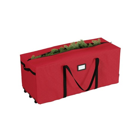 Elf Stor Elf Stor Premium Red Rolling Christmas Tree Storage Duffel Bag for 9' Disassembled Tree - image 1 of 4
