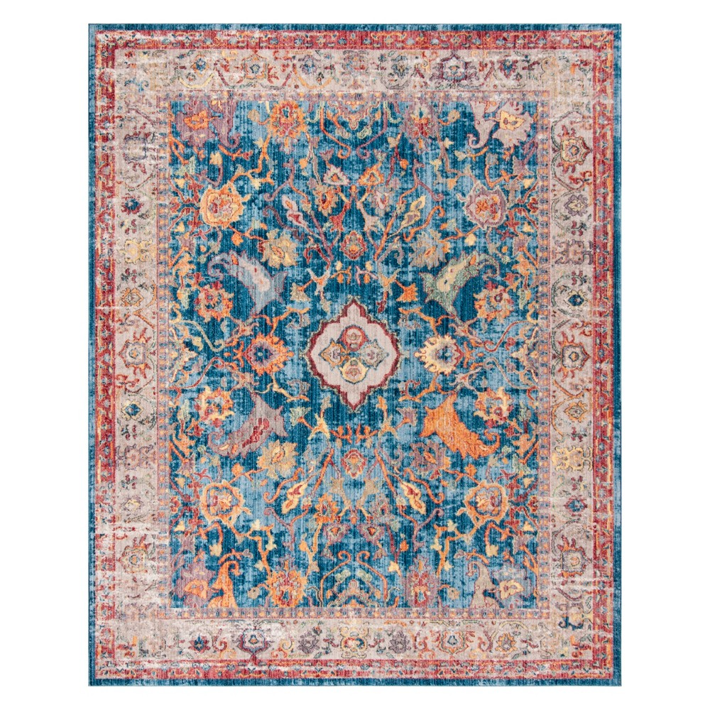 Medallion Area Rug Blue/Light Gray