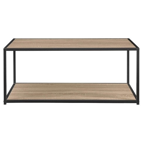 Park Canyon Coffee Table With Metal Frame Distressed Gray Oak Room Joy Target
