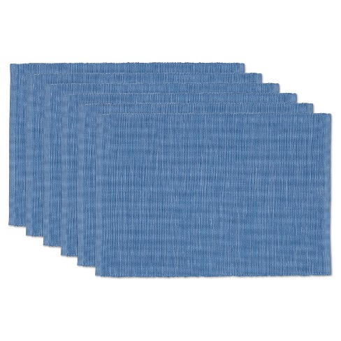 Blue Fountain Tonal Placemats (Set Of 6) - Design Imports - image 1 of 1