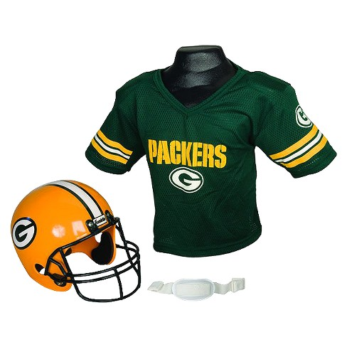 save off c7943 969ab Green Bay Packers Franklin Sports Helmet/Jersey Set - Ages 5-9