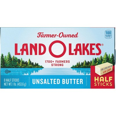 Land O Lakes Half Stick Unsalted Butter - 1lb