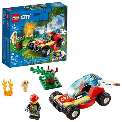 LEGO City Forest Fire Firefighter Building Set 60247